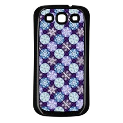 Snowflakes Pattern Samsung Galaxy S3 Back Case (Black)