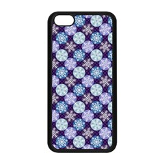 Snowflakes Pattern Apple iPhone 5C Seamless Case (Black)