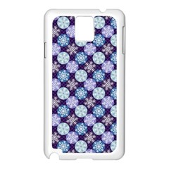 Snowflakes Pattern Samsung Galaxy Note 3 N9005 Case (White)
