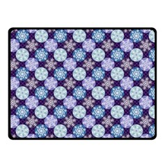 Snowflakes Pattern Double Sided Fleece Blanket (Small)