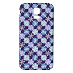 Snowflakes Pattern Samsung Galaxy S5 Back Case (white) by DanaeStudio