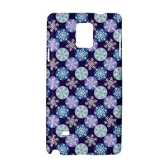 Snowflakes Pattern Samsung Galaxy Note 4 Hardshell Case by DanaeStudio