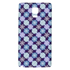 Snowflakes Pattern Galaxy Note 4 Back Case