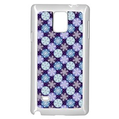 Snowflakes Pattern Samsung Galaxy Note 4 Case (white) by DanaeStudio