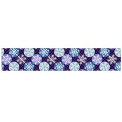 Snowflakes Pattern Flano Scarf (Large)
