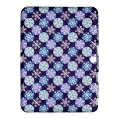 Snowflakes Pattern Samsung Galaxy Tab 4 (10 1 ) Hardshell Case  by DanaeStudio