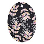 Winter Beautiful Foliage  Ornament (Oval)  Front