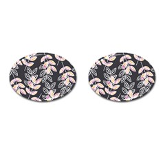 Winter Beautiful Foliage  Cufflinks (oval) by DanaeStudio