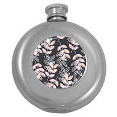 Winter Beautiful Foliage  Round Hip Flask (5 Oz) by DanaeStudio