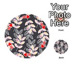Winter Beautiful Foliage  Playing Cards 54 (Round)  Front - Heart8