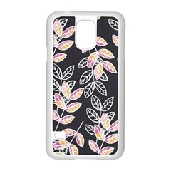 Winter Beautiful Foliage  Samsung Galaxy S5 Case (white) by DanaeStudio