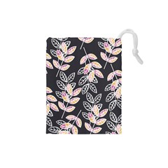 Winter Beautiful Foliage  Drawstring Pouches (small)  by DanaeStudio