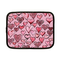 Artistic Valentine Hearts Netbook Case (small)  by BubbSnugg