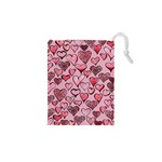 Artistic Valentine Hearts Drawstring Pouches (XS)  Front