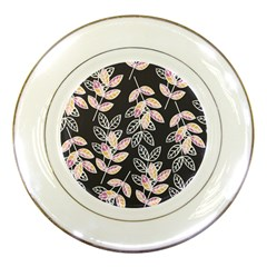 Winter Beautiful Foliage  Porcelain Plates by DanaeStudio