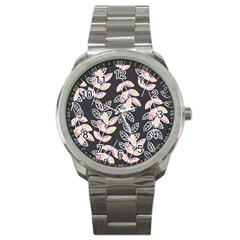 Winter Beautiful Foliage  Sport Metal Watch by DanaeStudio