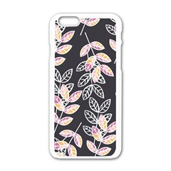 Winter Beautiful Foliage  Apple Iphone 6/6s White Enamel Case by DanaeStudio