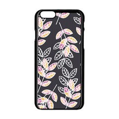 Winter Beautiful Foliage  Apple Iphone 6/6s Black Enamel Case by DanaeStudio
