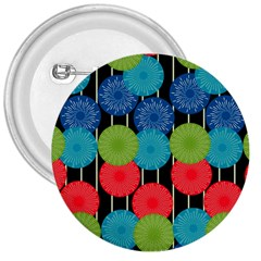 Vibrant Retro Pattern 3  Buttons by DanaeStudio