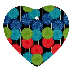 Vibrant Retro Pattern Ornament (Heart)