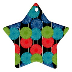 Vibrant Retro Pattern Ornament (Star)