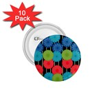 Vibrant Retro Pattern 1.75  Buttons (10 pack) Front