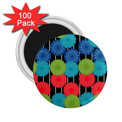 Vibrant Retro Pattern 2 25  Magnets (100 Pack)  by DanaeStudio