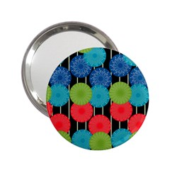 Vibrant Retro Pattern 2.25  Handbag Mirrors