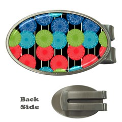 Vibrant Retro Pattern Money Clips (Oval)