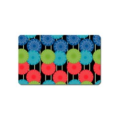 Vibrant Retro Pattern Magnet (name Card) by DanaeStudio
