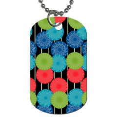 Vibrant Retro Pattern Dog Tag (One Side)