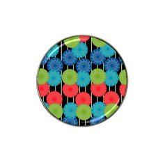 Vibrant Retro Pattern Hat Clip Ball Marker