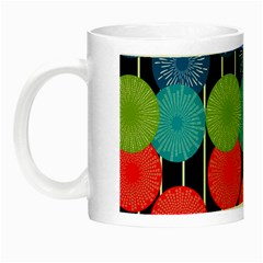 Vibrant Retro Pattern Night Luminous Mugs