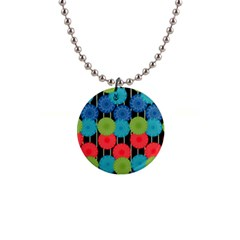 Vibrant Retro Pattern Button Necklaces