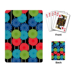 Vibrant Retro Pattern Playing Card