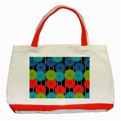 Vibrant Retro Pattern Classic Tote Bag (Red)