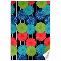 Vibrant Retro Pattern Canvas 24  x 36
