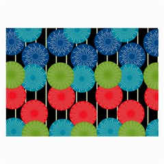 Vibrant Retro Pattern Large Glasses Cloth