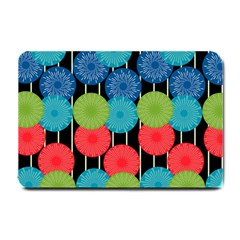 Vibrant Retro Pattern Small Doormat