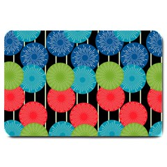Vibrant Retro Pattern Large Doormat