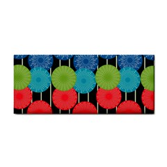 Vibrant Retro Pattern Hand Towel