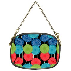 Vibrant Retro Pattern Chain Purses (two Sides)  by DanaeStudio