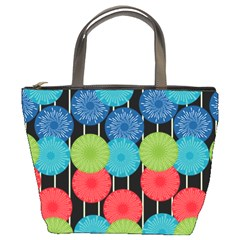 Vibrant Retro Pattern Bucket Bags