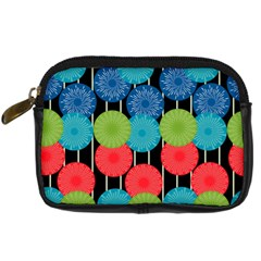Vibrant Retro Pattern Digital Camera Cases