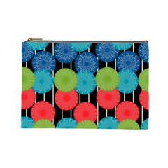 Vibrant Retro Pattern Cosmetic Bag (Large)