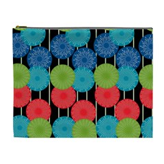Vibrant Retro Pattern Cosmetic Bag (XL)