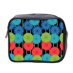 Vibrant Retro Pattern Mini Toiletries Bag 2-Side
