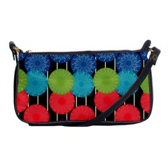 Vibrant Retro Pattern Shoulder Clutch Bags