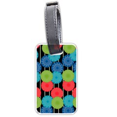 Vibrant Retro Pattern Luggage Tags (one Side)  by DanaeStudio