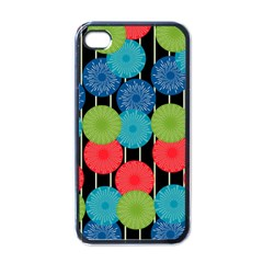 Vibrant Retro Pattern Apple iPhone 4 Case (Black)